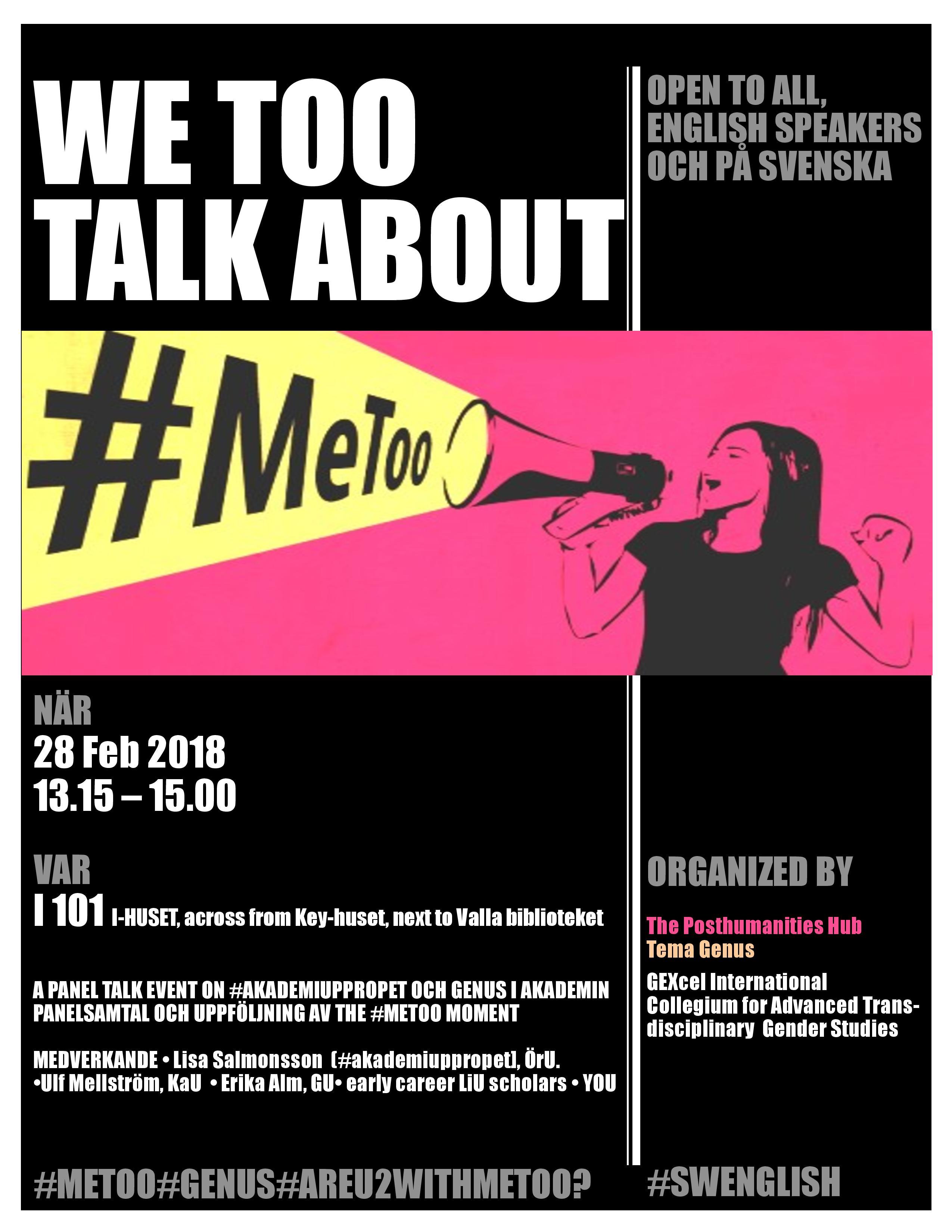 metoo event 28th Feb LiU