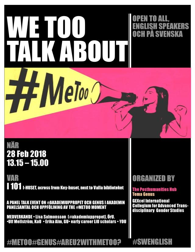 metoo event 28th Feb LiU